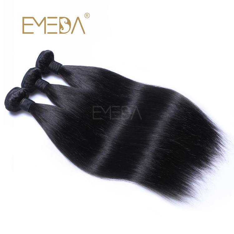 Unprocessed Indian Virgin Human Hair Bundles Natural Color Hair Weft Cuticle Aligned LM310