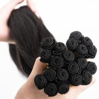 Hand tied human hair weft remy human hair lp180