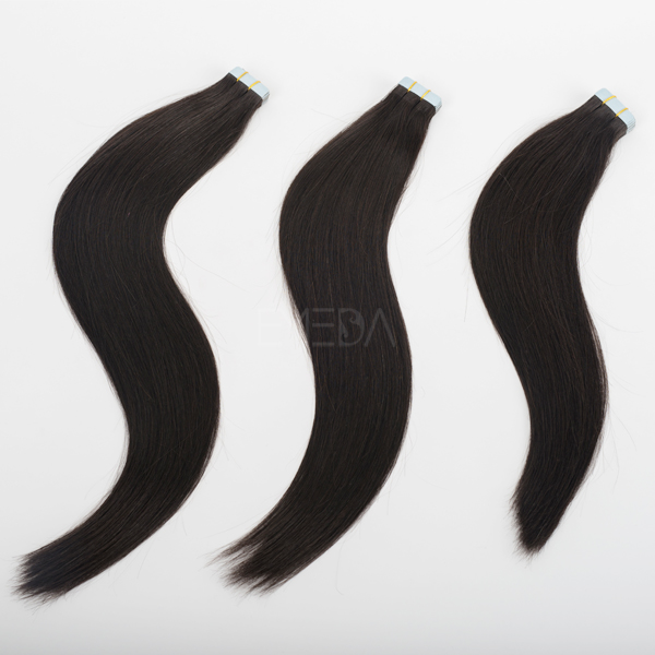 1b peruvian silky straight soft and resilient tape hair extension CX035