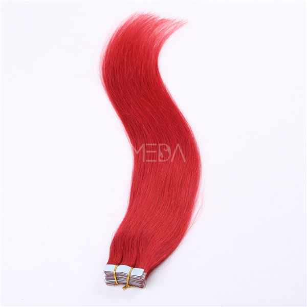 Tape in hair extensions red color with good quality double drown YL051