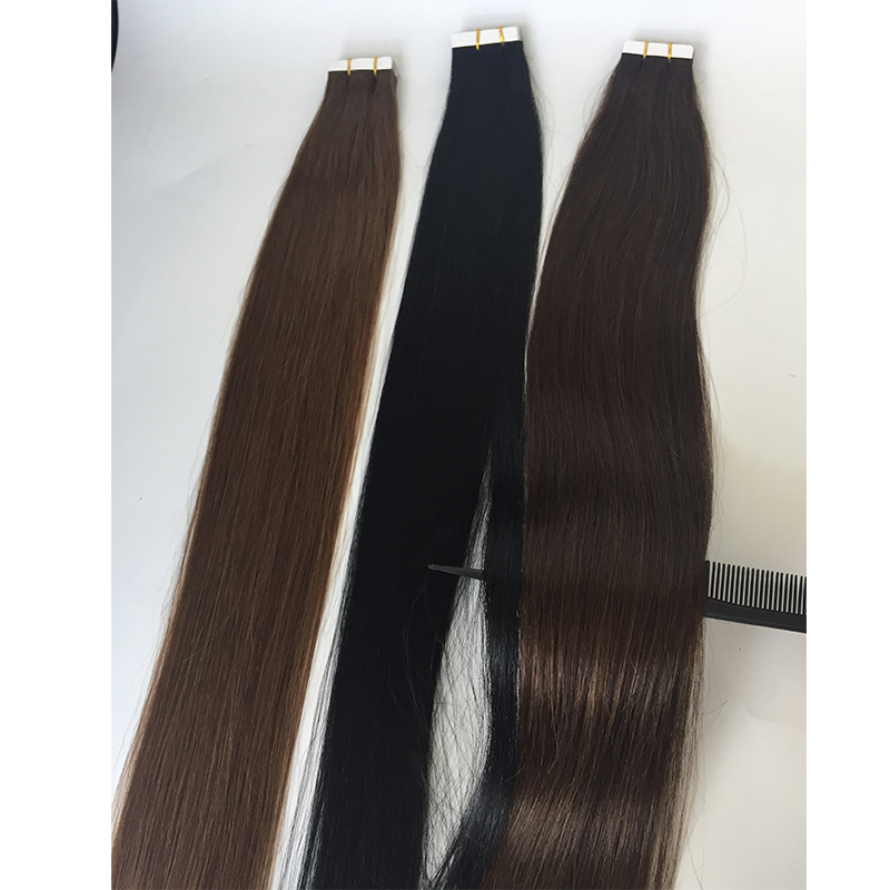 Hair factory suppliers Remy tape in hair silk straight YL416