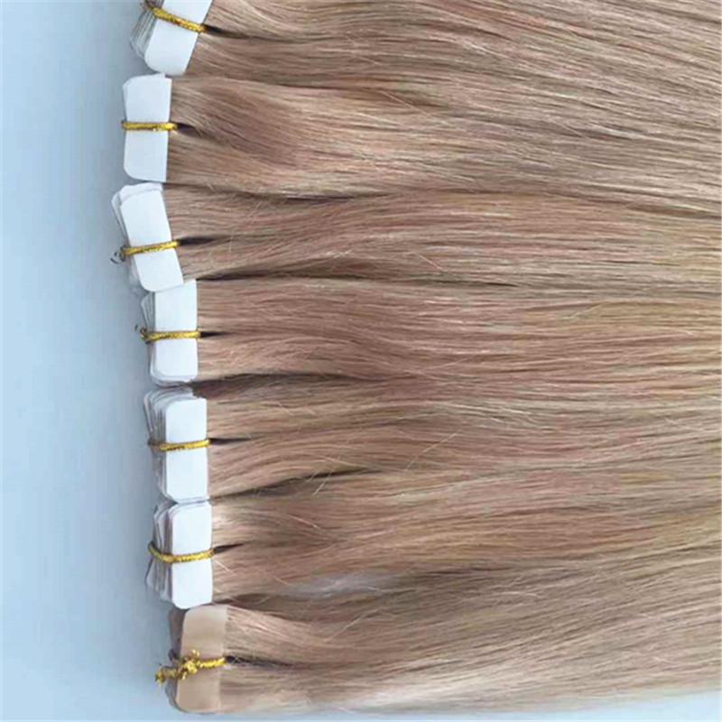 Tape in human hair extensions remy hair skin weft  YL296