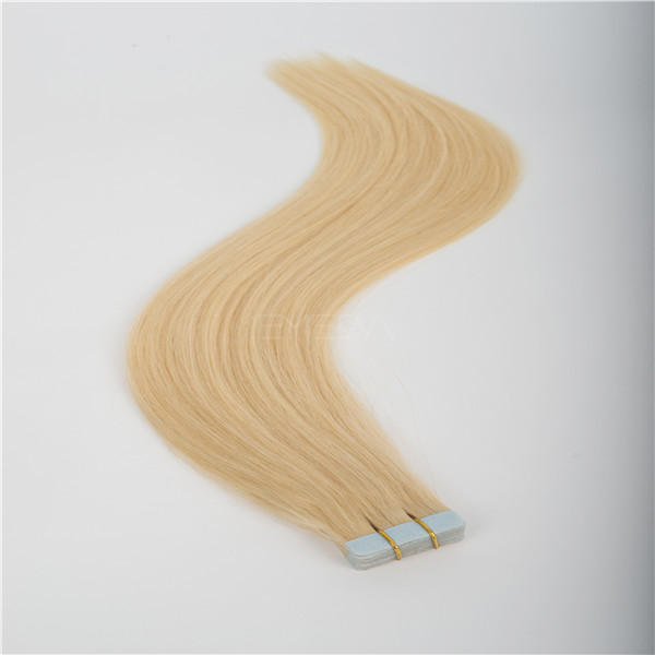 Natural looking double drawn hot sale tape in hair extensions Wj019