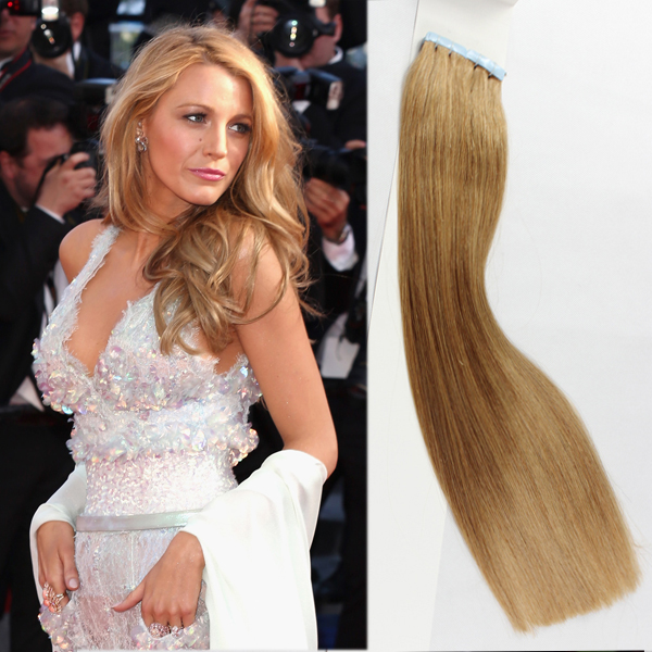 Tape in remy human hair extensions  LJ84