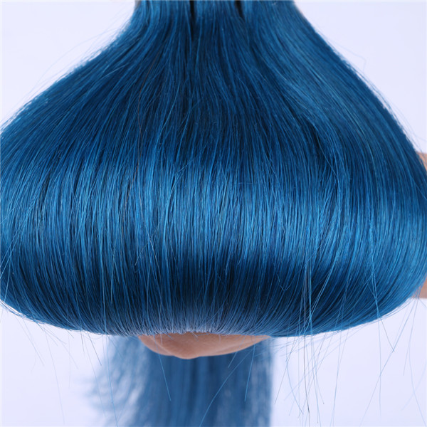 Wholesale Good Quality Tape In Hair Extensions Blue Hairs Xs088