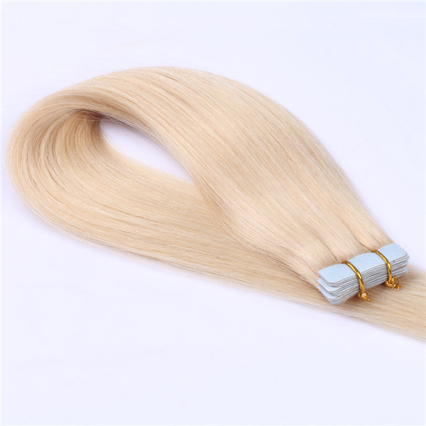 Wholesale double drawn high quality brazilian straight tape in human hair extensions XS084