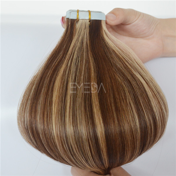 Piano color double side tape weft hair extensions YJ108