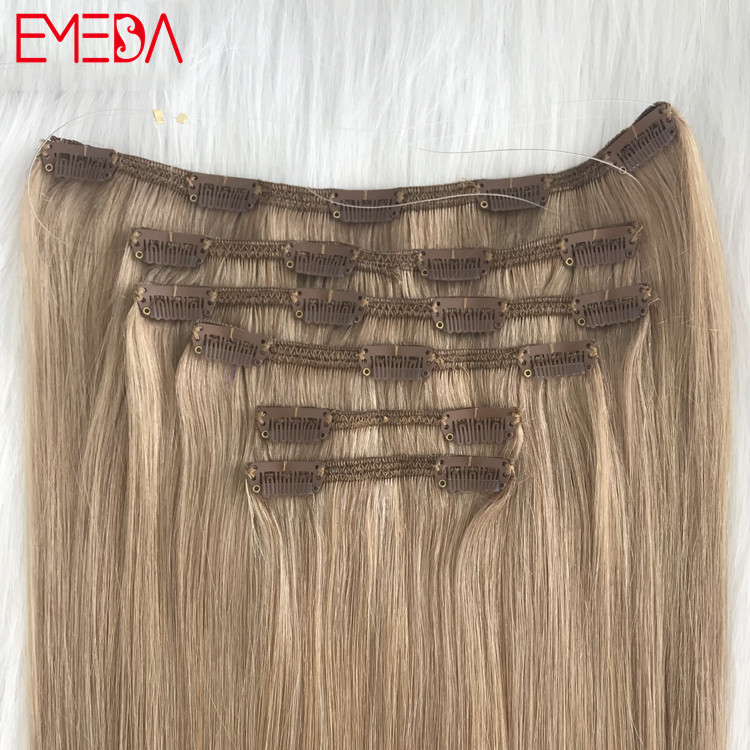 Best seamless hair extensions thick end clip on hair extension quotation YJ288