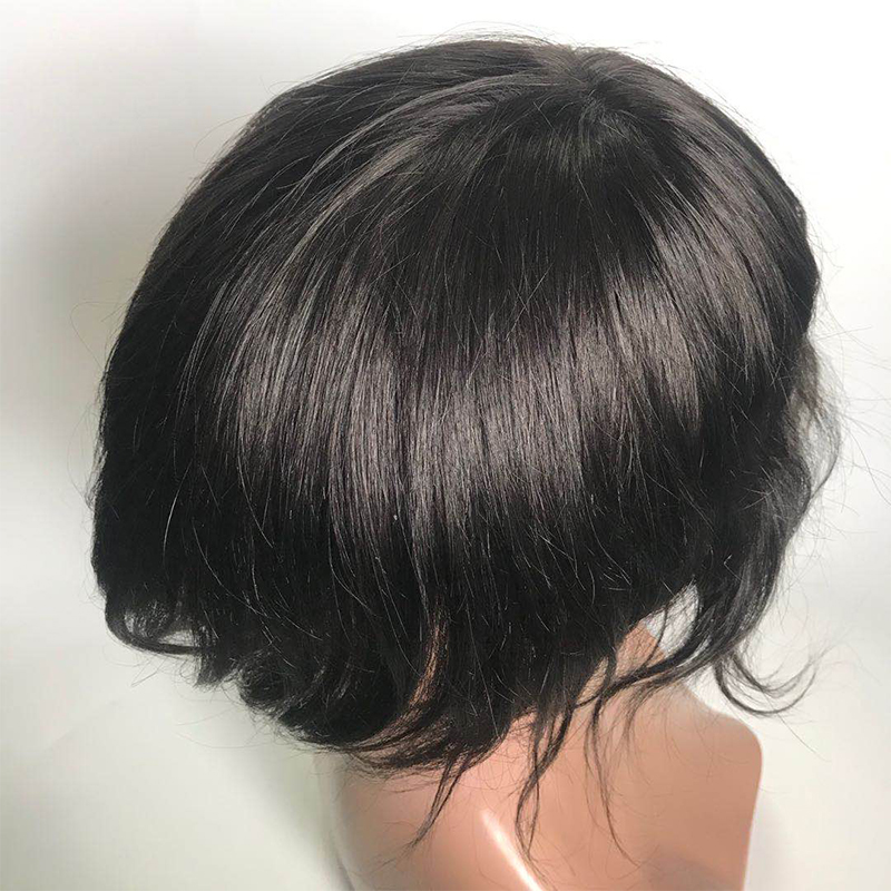 Thin skin 0406 0608  pu toupees double knots , v loop injected hair YL448