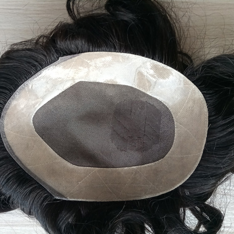 Mens Wigs Mono With NPU Toupee For Men Hot Sale Online Real Human Hair Toupee LM409