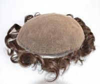 Factory price full bleached knots swiss lace toupee in stock QM061