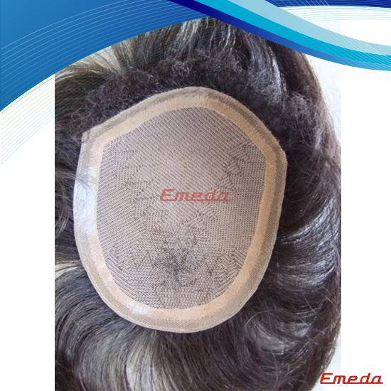100 human hair mens toupee