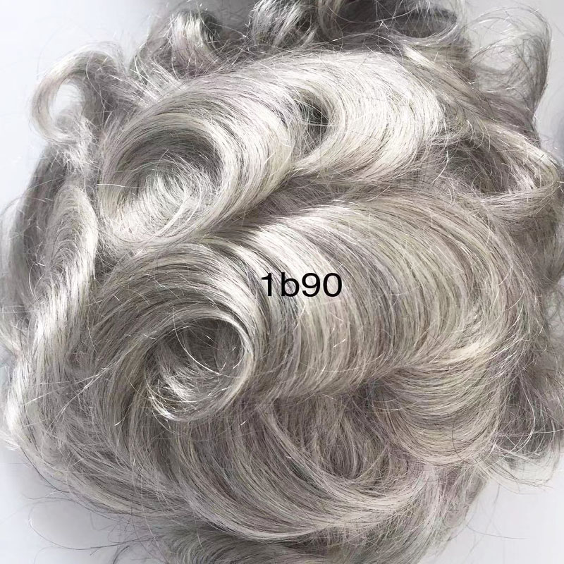 Grey hair pieces for men soft hair and durable men toupee YL301