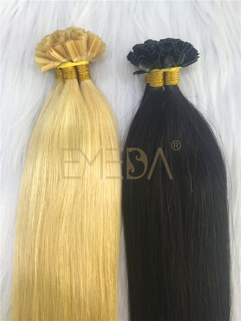Human  Remy Hair Extensions Kerantin hair extensions I tip U tip Flat tip Wholesales YL255
