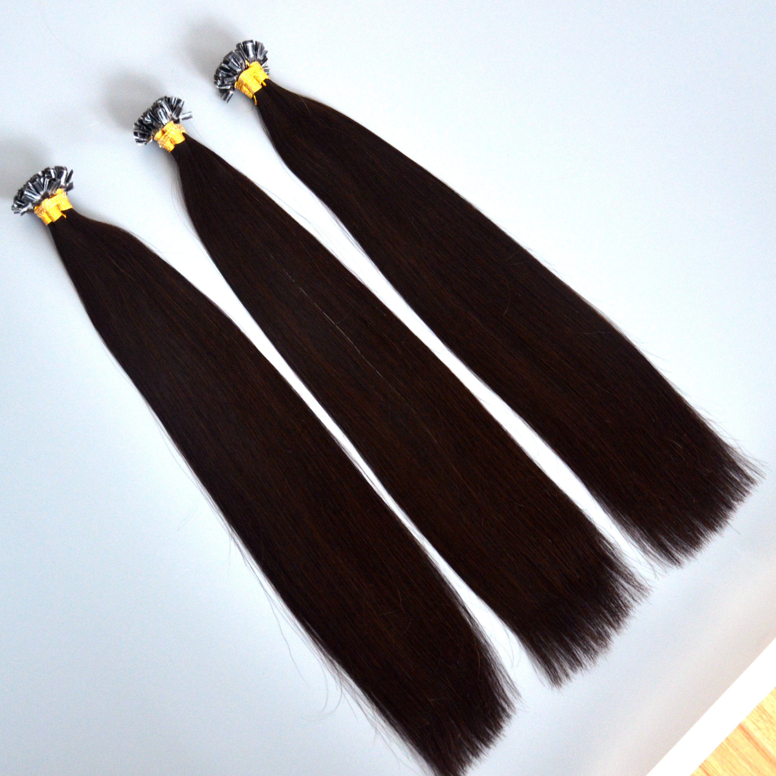 30 inch u tip keratin bond hair extension,hair extensions u-tip,unprocessed raw hair extension HN 370