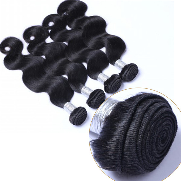 EMEDA Malaysian unprocessed natural full body wave black hair weave bundles QM022