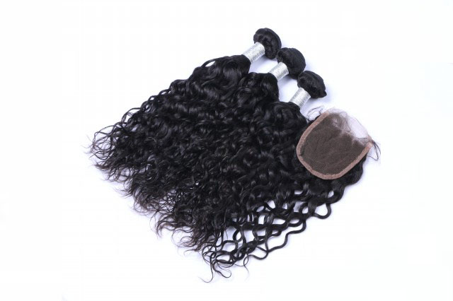 where to buy top grade unprocessed natural wave human hair extensions WJ007