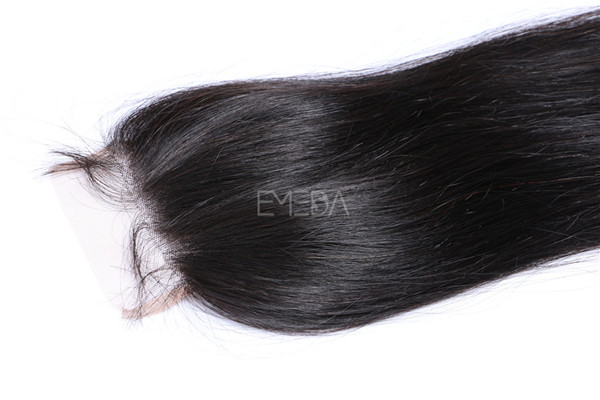 Virgin human hair lace closures with hair bundles  ZJ0095