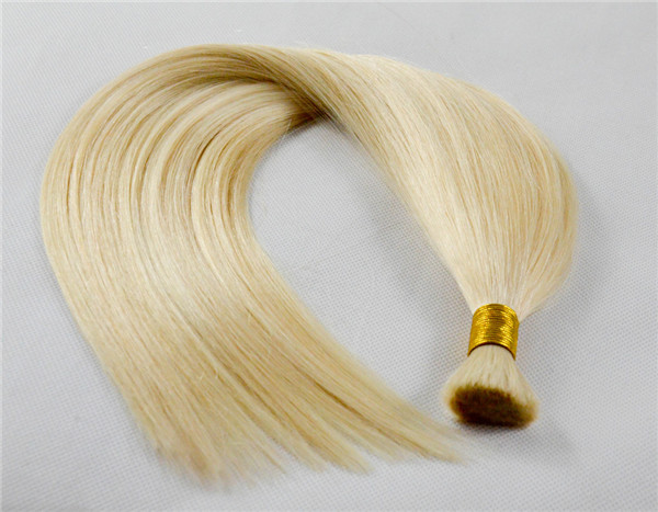 Wholesale top grade100 human remy hair extensions hair bulk WJ035