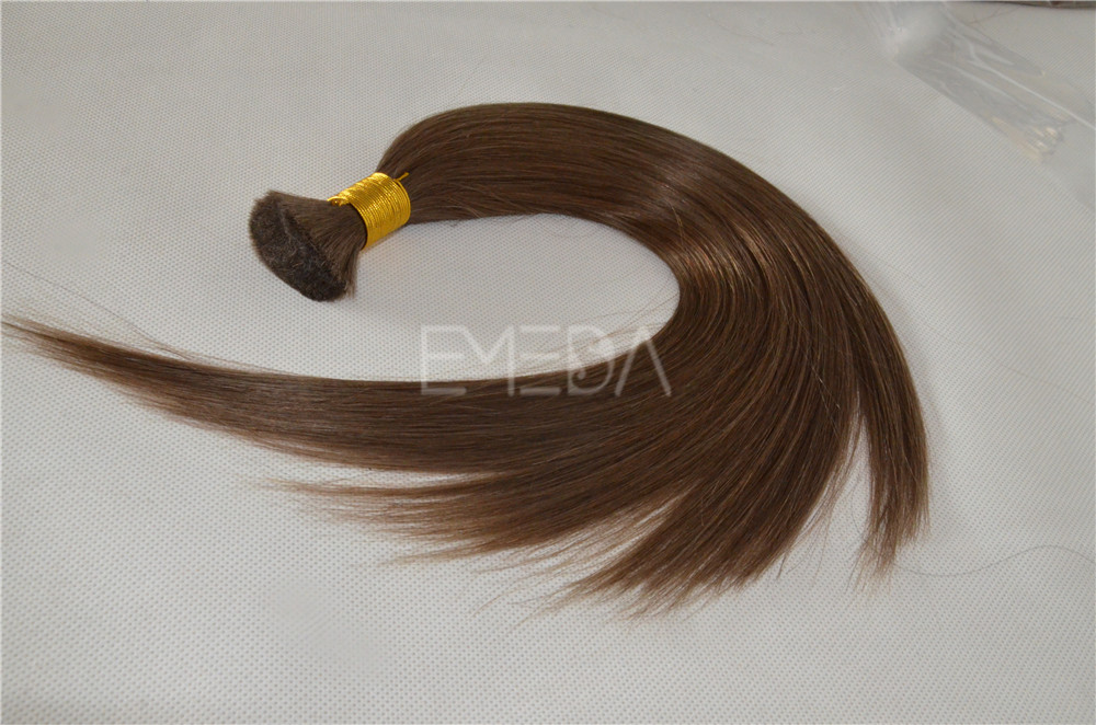 Virgin Russian remy human hair bulk  ZJ0070