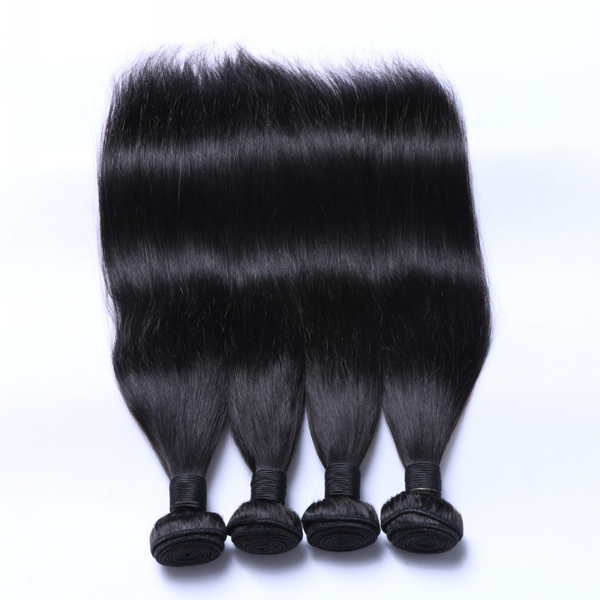 EMEDA Natural Black Peruvian Straight Hair Extensions WW011