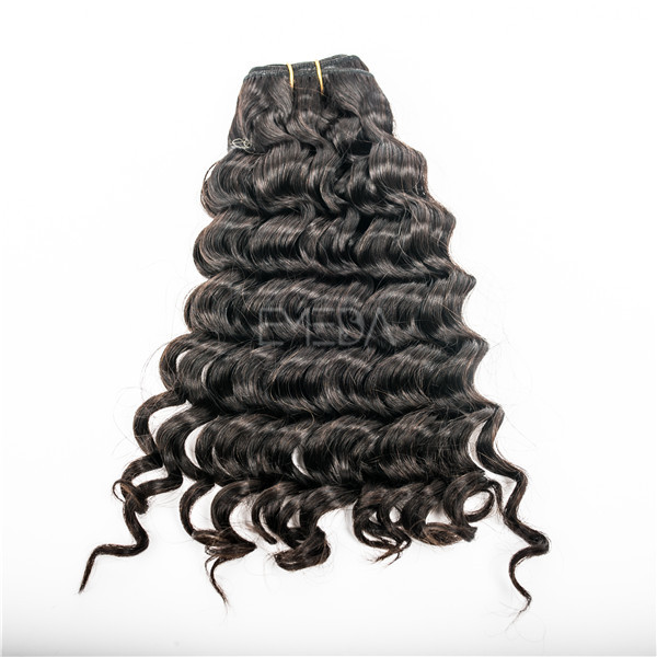 Double drawn hair extensions for thick hair water curl YJ67