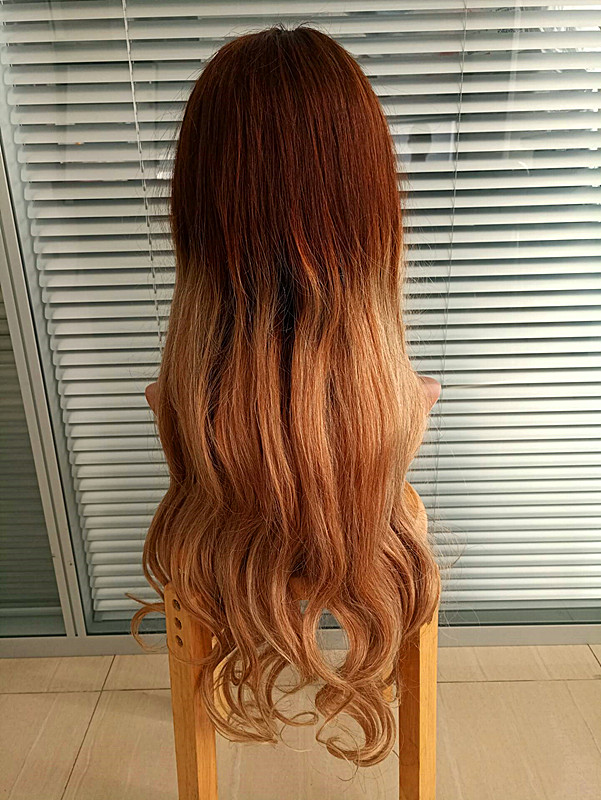 Ombre color human hair full lace wig wholesale price YL032