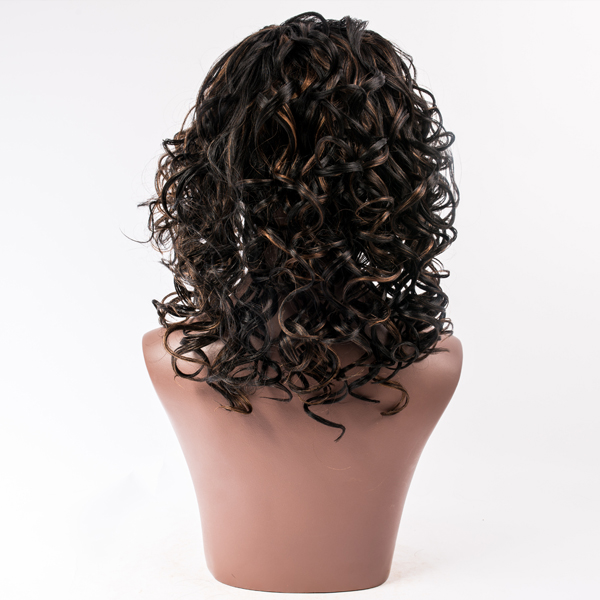 Synthetic hair lace front wig LJ81
