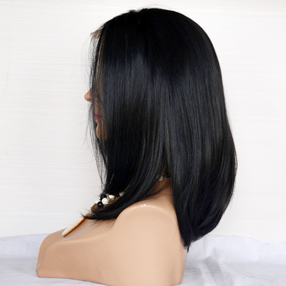Lace Front Wig Virgin Human Best Quality Hair Wig   LM055