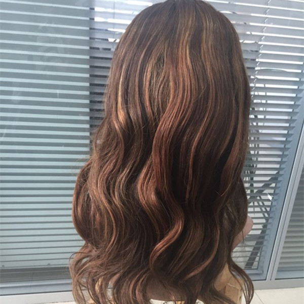 Silk top full lace wig brown color body wave YL301