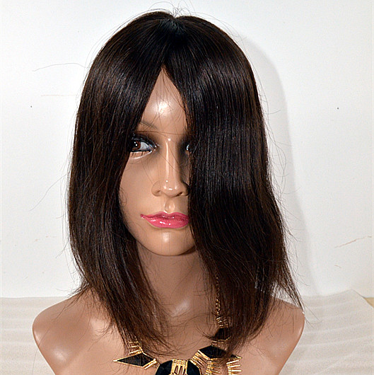 Peruvian lace wig silk top human hair full lace wig with baby hair,kosher wig short human hair wigs,overnight delivery lace hn141