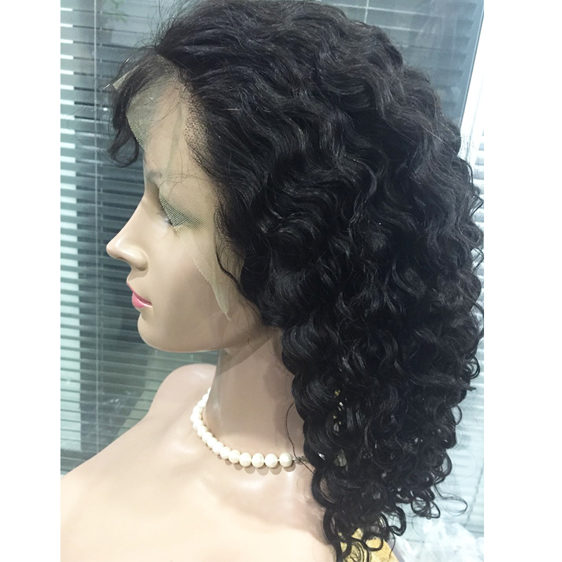 Human hair virgin hair wigs have straight wave curly in stock wholesale price YL454