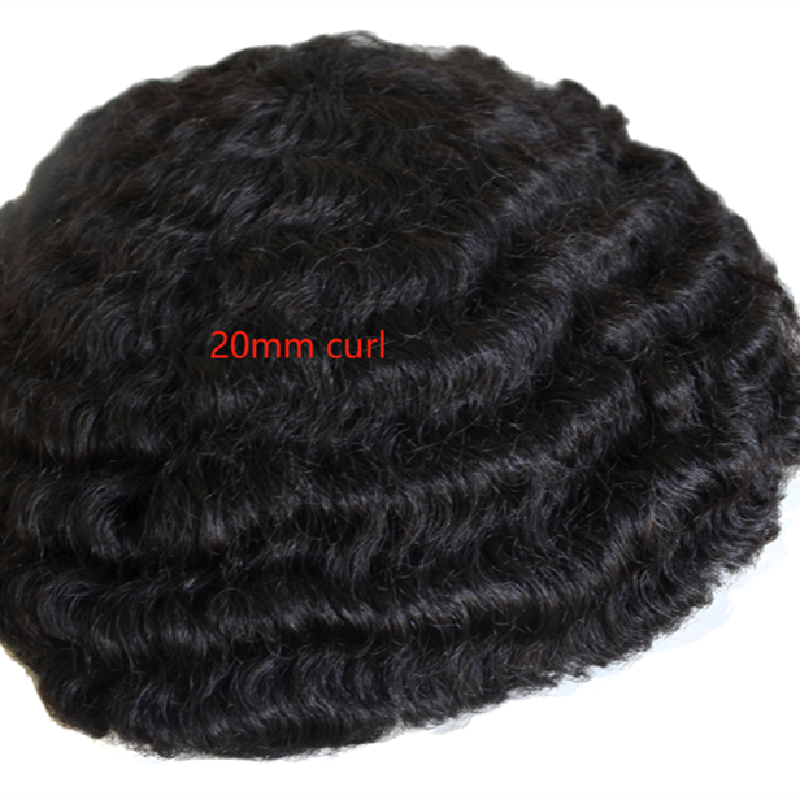 Afro curl men toupees for black men full lace base good quality toupees YL403