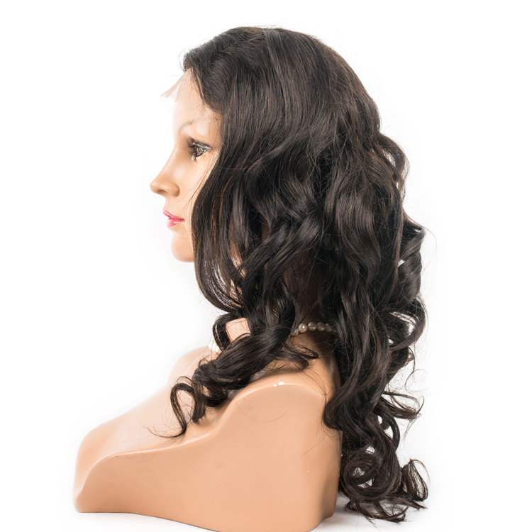 Best Lace Front Wigs In China Supplier Body Wave Soft And Silk Human Hair Wigs  LM248