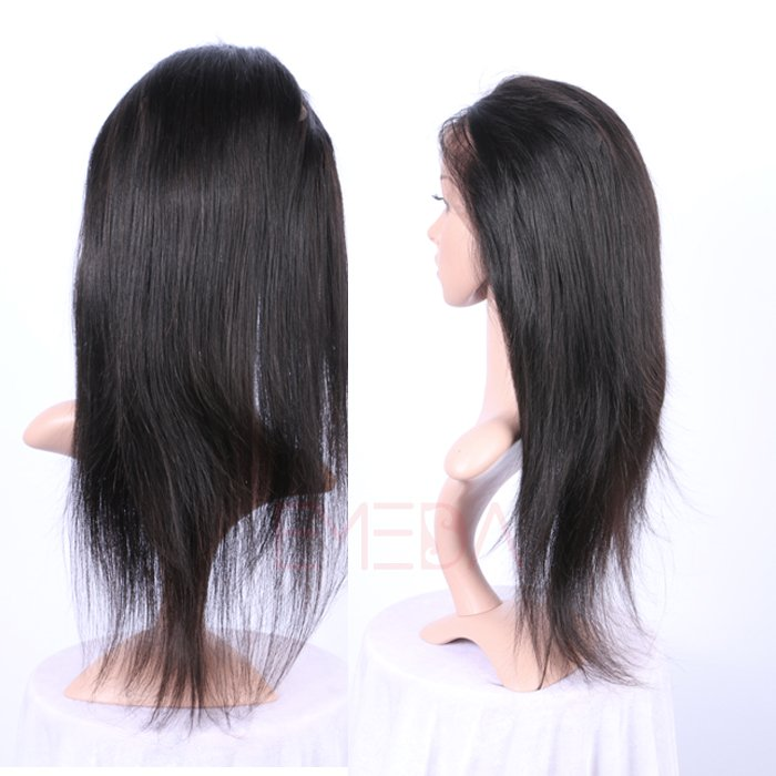 EMEDA Brazilian Hair 360 Lace frontal with hair extensions Straight hair Pre Plucked Lace Frontals HW059