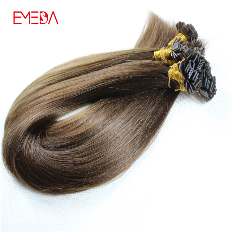 Professional China pre bonded hair extensions hair factory flat tip keratin remy human hair balayage YJ315