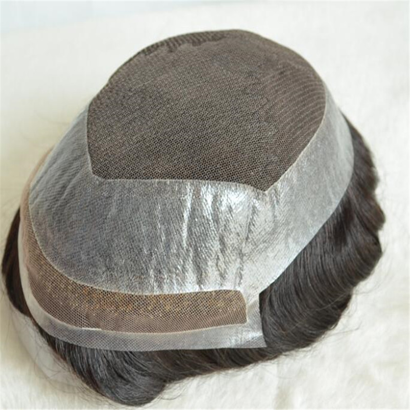 HD Lace Toupee Human Hair with Factory Price for Professional Stylist WK055