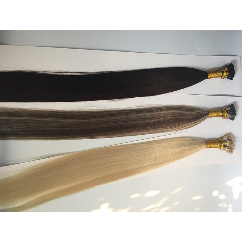 I tips  human hairextensions  factory price  high quality hair YL431