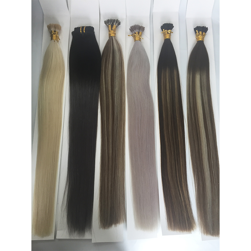 I Tip Hair Extensions Salon Quality Darkest Brown I Tip Remy Human YL443