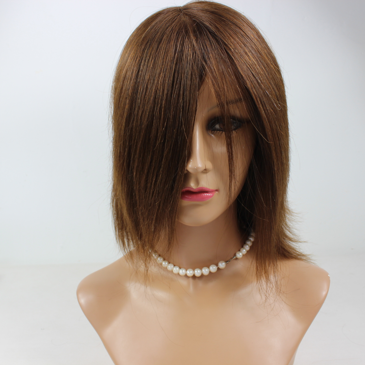 12 inch Cheap price human hair lace front wig brazilian human hair YL093