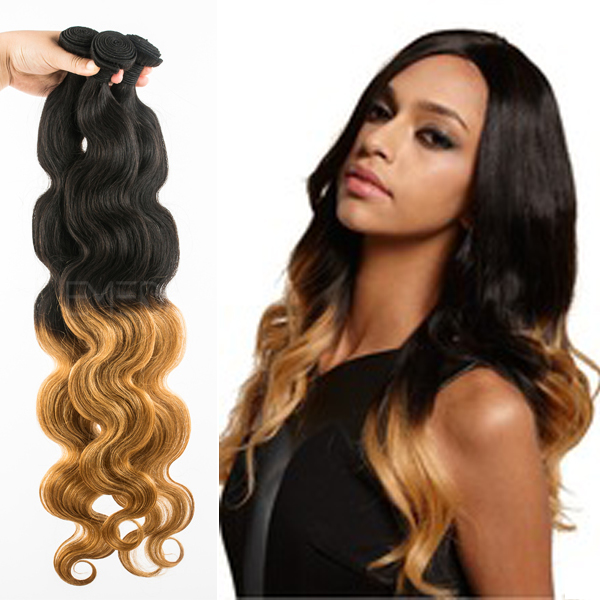 Grade 5A Pervian hair colored hair extensions YJ