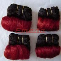 High quality aaaaa cheap raw hot sell two color virgin brazilian hair extension weft