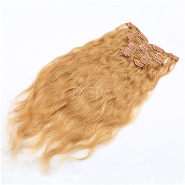 Human clip in extensions cheap WJ052