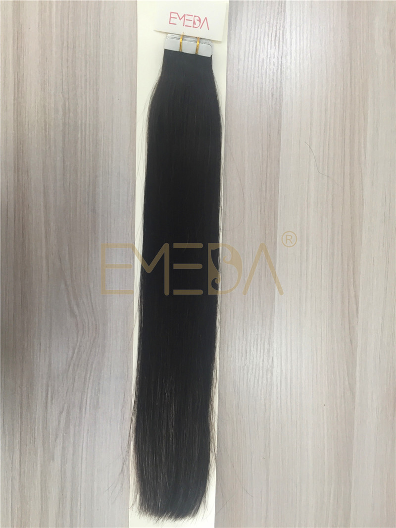 Tape in  human hair extension Wholesale Cheap Brown Color Tape In Human Hair Extensions invisible  YL254