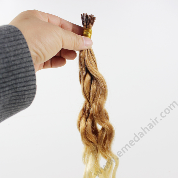 Curly i tip hair extensions stick hair extensions HN355