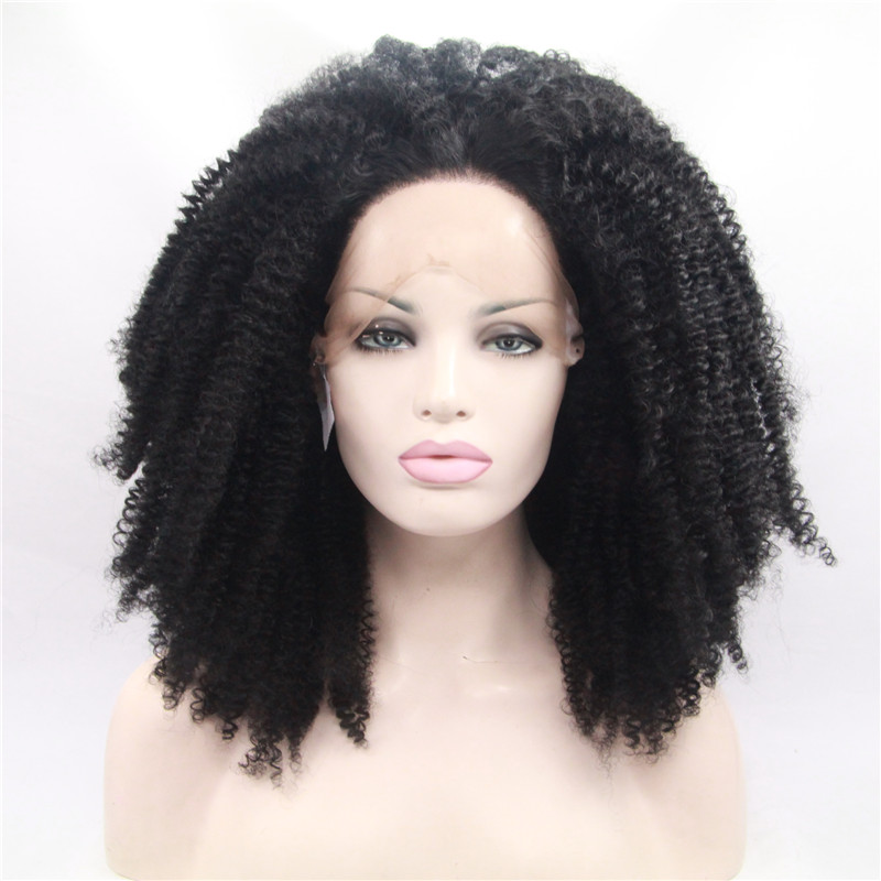 Afro Kinky Curly Full Lace Wig Brazalian Hair Free Shipping Hair Factory WK191
