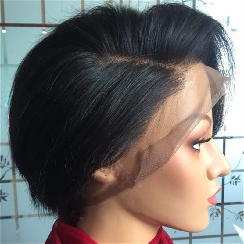best wholesale hair vendors in china pixie cut wig lace front WK146