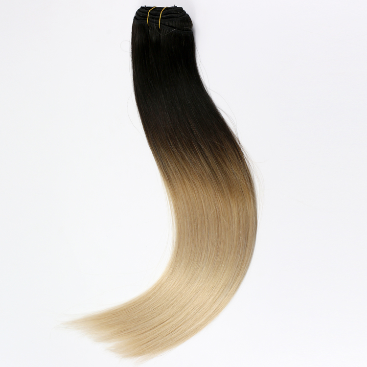china ombre clip in tape extensions manufacturers suppliers remy double drawn human hair YJ319
