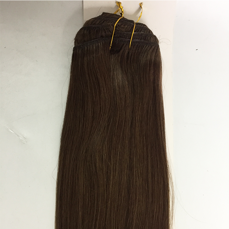 Clip in hair 120g 220g 250g  natural black  accept sample order YL459