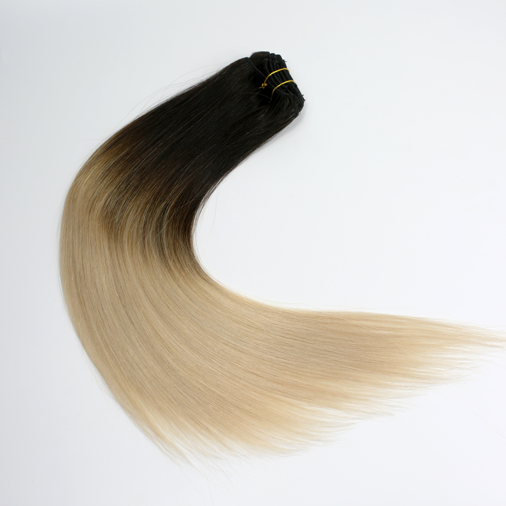 Super best quality  clip in hair extensions in human hair and cheap shipping fee YL155